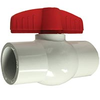 White Socket PVC Ball Valves