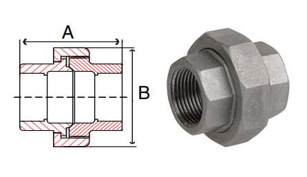 Pipe Fitting Stainless Steel Socket Weld Unions 150 PSI